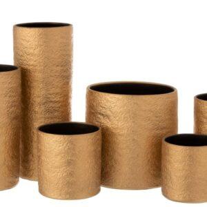 set keramiek gouden vazen