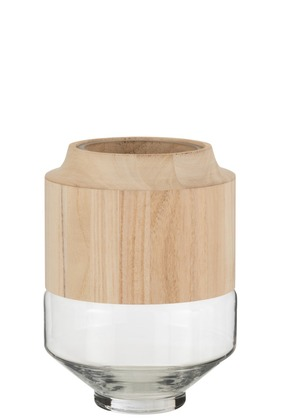 hoog vaas glas hout