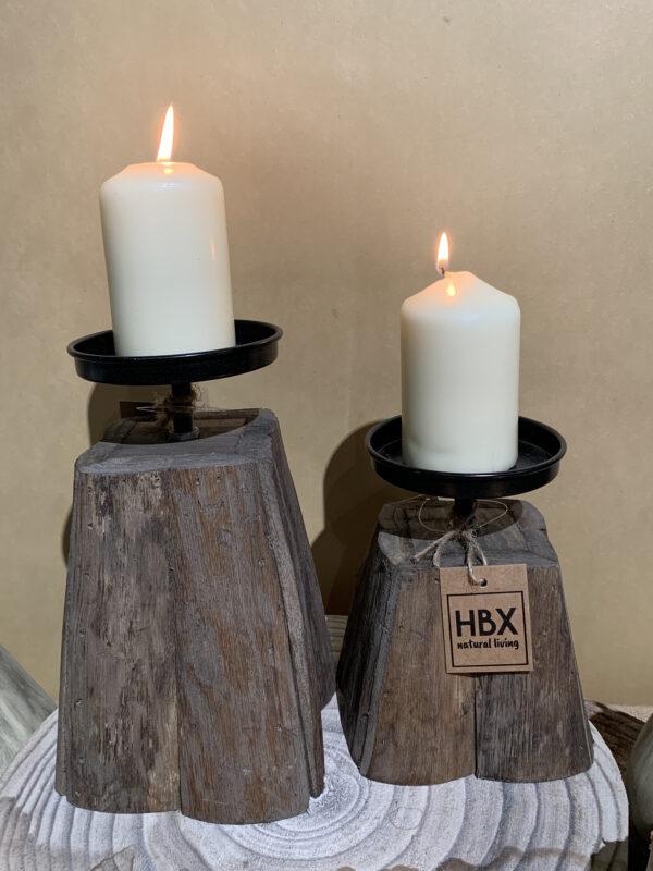 houten kaarsenstaander