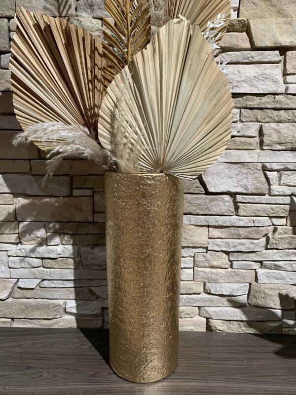set vazen keramiek goud met palmblad