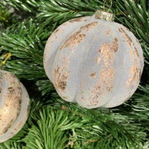 kerstbal grijs roest